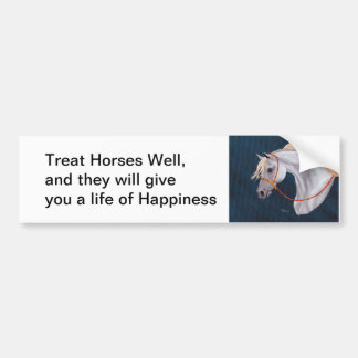 Horse life of happiness Bumper Sticker