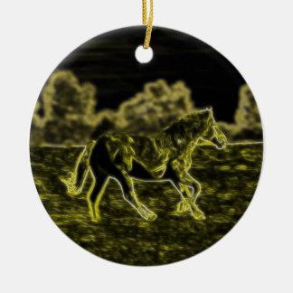 Horse (Light Horse) Ceramic Ornament