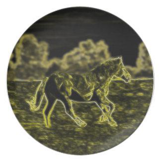Horse (Light Horse) Melamine Plate