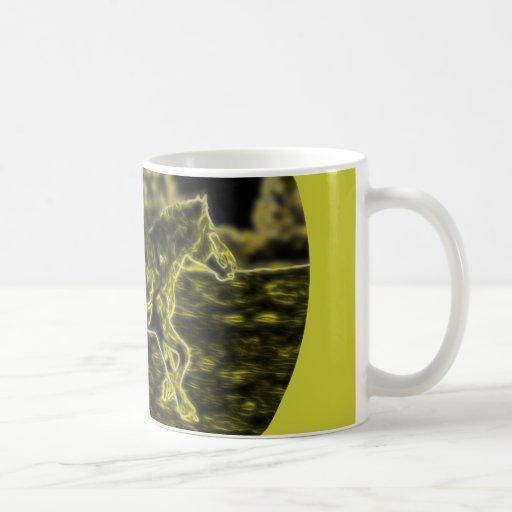 Horse (Light Horse) Coffee Mugs