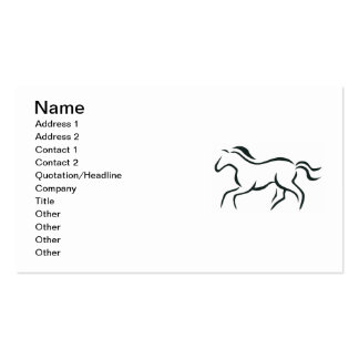 Horse line drawing business card