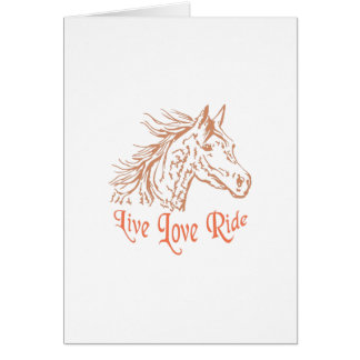 HORSE LIVE LOVE RIDE GREETING CARD