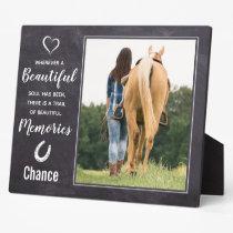 Horse Loss Memorial Keepsake - Horse Photo Plaque
