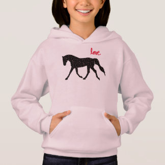 Horse, Love and Hearts Hoodie