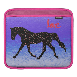 Horse, Love and Hearts Sleeve For iPads