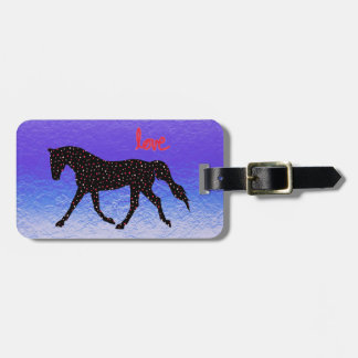 Horse, Love and Hearts Luggage Tag