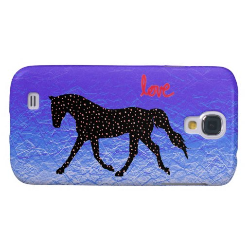 Horse, Love and Hearts Samsung Galaxy S4 Covers