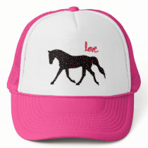 Horse, Love and Hearts Trucker Hat