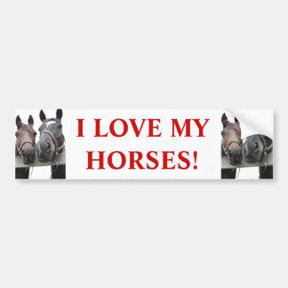 Horse-Love Car Bumper Sticker