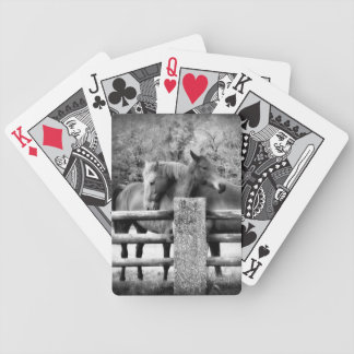Horse Love - Couple of Farm Horses Hugging Bicycle Playing Cards
