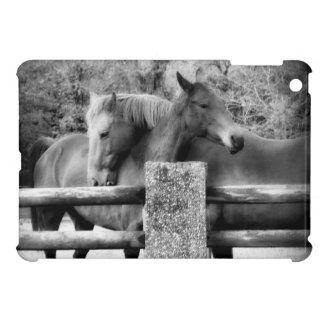 Horse Love Hugging Horse Couple Case For The iPad Mini