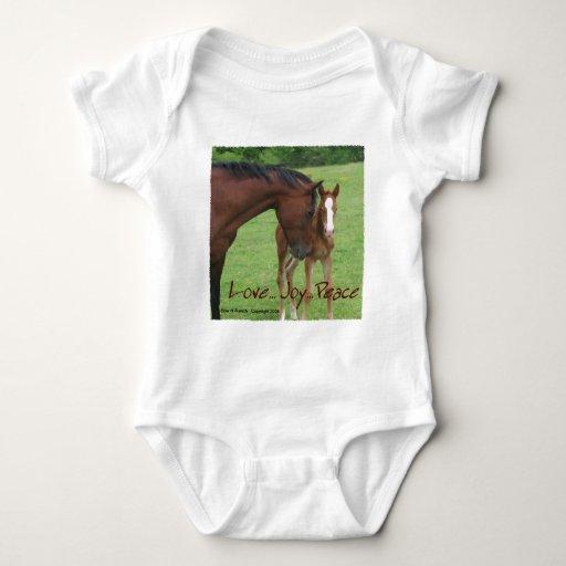 Horse Love, Joy,Peace Baby Bodysuit