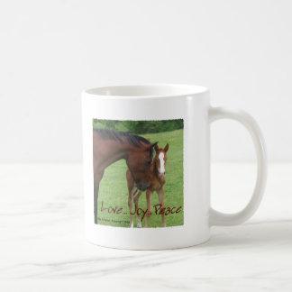 Horse Love, Joy,Peace Classic White Coffee Mug
