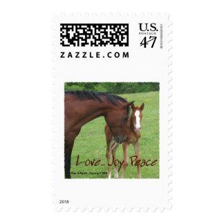 Horse Love, Joy,Peace Postage