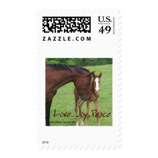 Horse Love, Joy,Peace Stamps