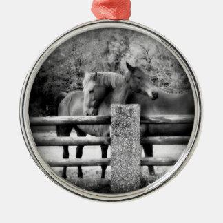 Horse Love Metal Ornament