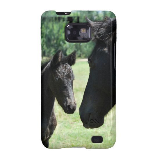 Horse love mom and baby galaxy SII case