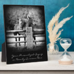 Horse Love - Pair of Horses in Loving Embrace Display Plaque