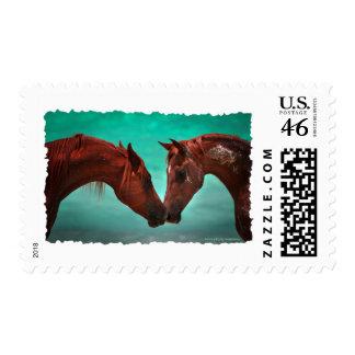Horse Love Postage Stamp