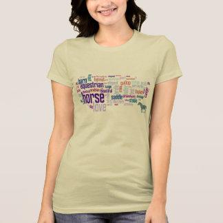 Horse Love Word Cloud Art Horse Lovers Shirt