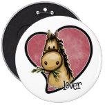 Horse Lover 6 Inch Round Button