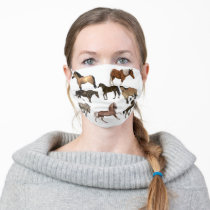 Horse Lover Animal Print Adult Cloth Face Mask