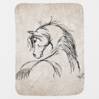 Horse Lover Baby Blankets