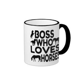 Horse Lover Boss Ringer Coffee Mug
