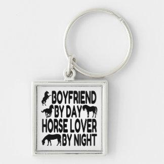 Horse Lover Boyfriend Silver-Colored Square Keychain