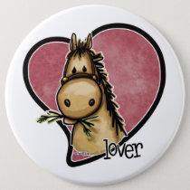 Horse Lover Button
