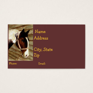 Horse-Lover Calling Card