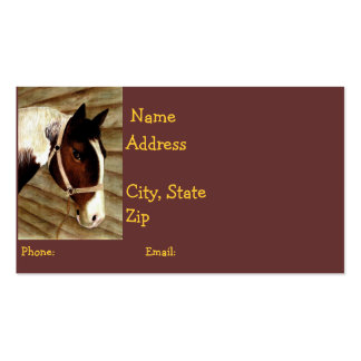 Horse-Lover Calling Card Business Card