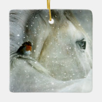Horse Lover Christmas Ceramic Ornament