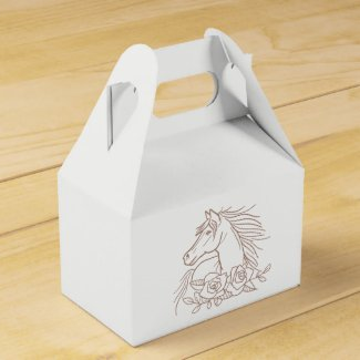 Horse Lover Country Wedding Western Rustic Pony Favor Boxes