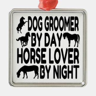 Horse Lover Dog Groomer Metal Ornament
