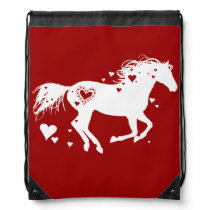 Horse Lover Drawstring Backpack