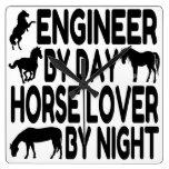 Horse Lover Engineer Clock