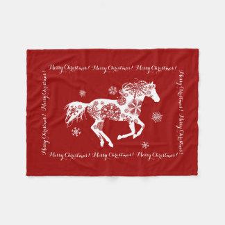 Horse Lover Equestrian Pony Fleece Blanket
