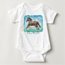 Horse-lover Equine design Baby Bodysuit