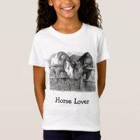 HORSE LOVER: GIRL'S SHIRT: PENCIL T-Shirt