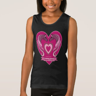 Horse Lover Heart Ladies Camisole Tank Top