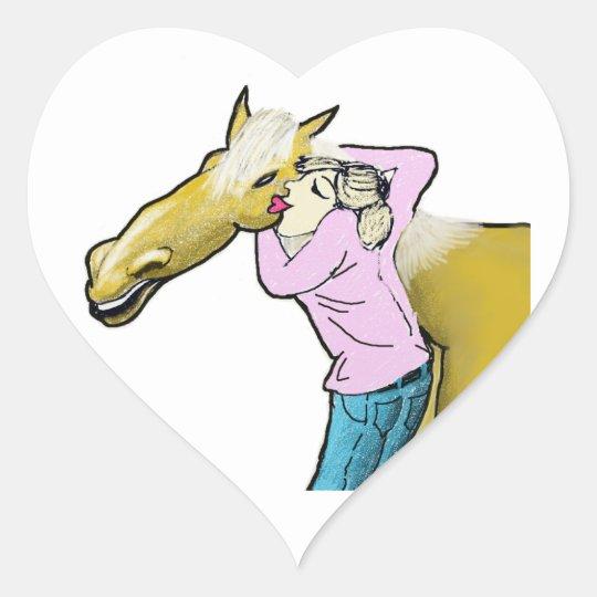 Horse Lover Heart Sticker