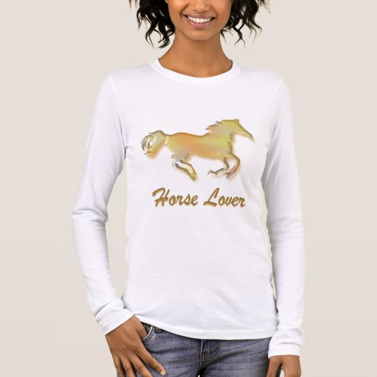 Horse Lover in Gold Long Sleeve T-Shirt
