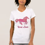 Horse Lover in Pink Tee Shirts