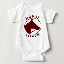 HORSE LOVER INFANT SHORT SLEEVE BABY BODYSUIT