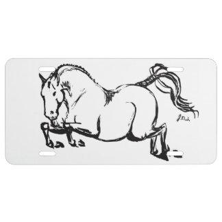 Horse Lover License Plate