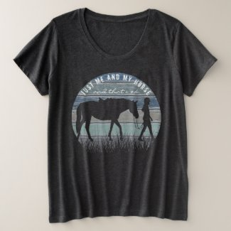 HORSE LOVER - Me and My Horse Plus Size T-Shirt