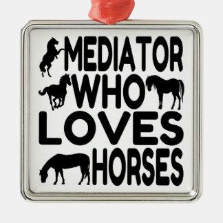 Horse Lover Mediator Metal Ornament