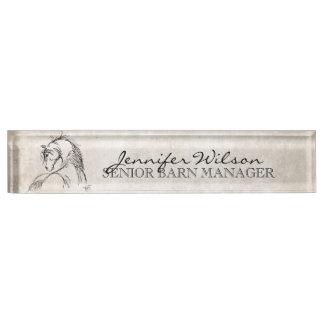 Horse Lover Nameplate