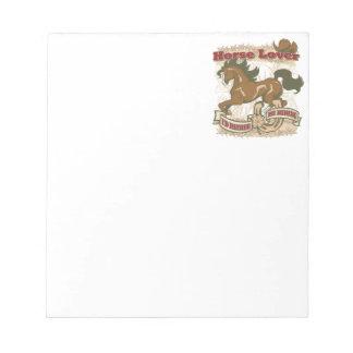 Horse Lover Memo Notepad